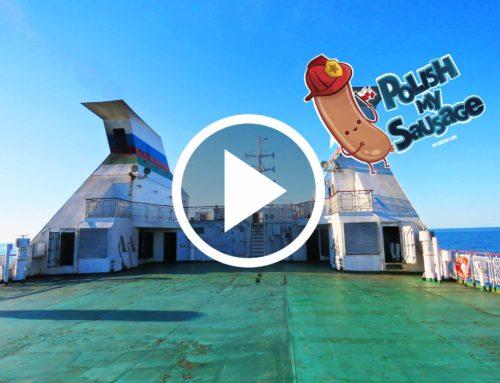Mess on Caspian Sea ferry Kazakhstan – Azerbaijan | Mongol Rally 2017 | Polish My Sausage
