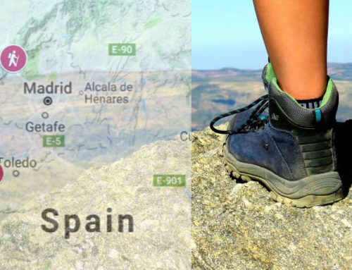 Hiking trails in Spain – map