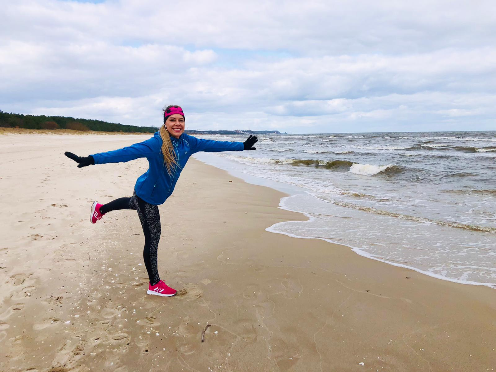 bieganie nad morzem